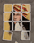 Girl Glass Art Framed Prints - Kodachrome Framed Print by Robin and Mouse Grass