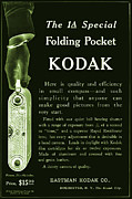Vintage Advertising Posters - Kodak 1A Folding Pocket Camera Ad Poster by The  Vault