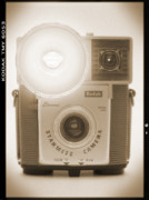 Camera Digital Art Posters - Kodak Brownie Starmite Camera Poster by Mike McGlothlen