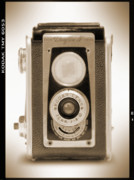 Camera Posters - Kodak Duaflex IV Camera Poster by Mike McGlothlen