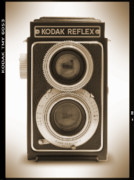 Sepia Digital Art Prints - Kodak Reflex Camera Print by Mike McGlothlen