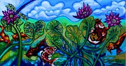 Genevieve Esson - Koi Fish and Water Lilies With Dragonfly