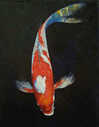 Koi Painting Posters - Koi Poster by Michael Creese