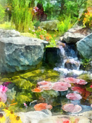 Kingyo Prints - Koi Pond Print by Susan Savad