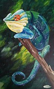 Chameleon Paintings - Koimelleon by Deda Happel