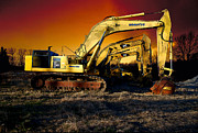 Bulldozers Framed Prints - Komatsu Framed Print by Guy Harnett