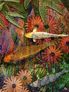 Tropical Fish Mixed Media Posters - Kona Kurry Poster by Christopher Beikmann