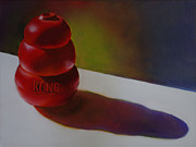Dog Paintings - Kong by Gwen Card