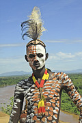 Straw Roof Art - Konso tribe man by Gilad Flesch