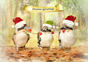 Angelgold Art - Kookaburra Christmas
