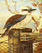 Joy Cresp - Kookaburra On Fence