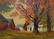Berkshire Hills Posters Paintings - Kordana Place by Len Stomski
