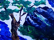 Pallet Knife Prints - Korean Mountain Print by Jayne Kerr