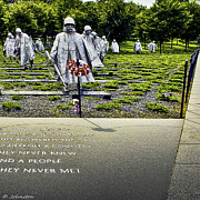 Bravery Digital Art Posters - Korean War Memorial Washington D.C. Poster by Nadine and Bob Johnston