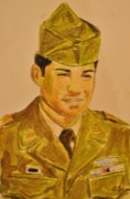Korean War Paintings - Korean War Veteran by Cisco Ramirez