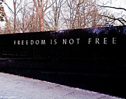 Kia Posters - Korean War Veterans Memorial Freedom is Not FREE Poster by Nadine and Bob Johnston