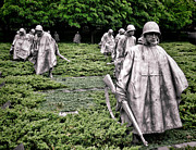 Washington Dc Photos - Korean War Veterans Memorial by Olivier Le Queinec