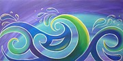 Koru Surf Print by Reina Cottier