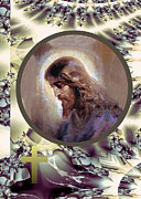 Robert Kernodle Posters - Koshelev Christ Head Poster by Robert G Kernodle