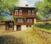 Cobblestone Paintings - Kotel the Ethnographic museum by Kiril Stanchev