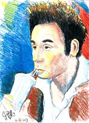 Cardstock Drawings Prints - Kramer  Print by Jon Baldwin  Art