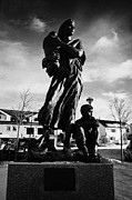 Town Square Prints - Krigsmodremonument Wartime Mothers Monument Kirkenes Finnmark Norway Europe Print by Joe Fox