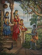 Ananda Paintings - Krishna as Shaiva sanyasi  by Vrindavan Das
