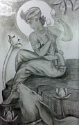 Mayur Sharma Metal Prints - Krishna Metal Print by Mayur Sharma