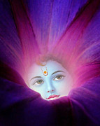 Devotional Art Posters - Krishna Morning Glory Poster by Richard Copeland