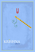 Religious Digital Art Prints - Krishna the Playful Print by Tim Gainey