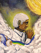 Indian Guru Paintings - Krishnamurti by M H Yaghooti