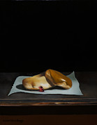 American Food Paintings - Krispy Kremes by Steven Allen Boggs