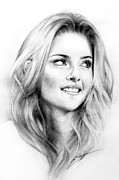 Smile Drawings Posters - Kristen Stewart Poster by Lin Petershagen
