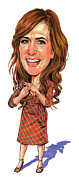Caricatures Paintings - Kristen Wiig by Art