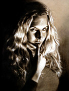 Photo Realism Drawings - Kristy by Edward Pollick by Edward Pollick