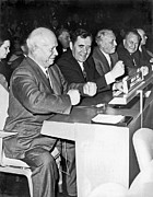 Fists Prints - Krushchev At United Nations Print by Underwood Archives