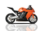 Ktm Framed Prints - Ktm Rc8 Framed Print by Carl Shellis