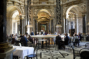 Gilt Framed Prints - Kunsthistorische Museum Cafe II Framed Print by Madeline Ellis