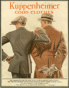 Vintage Clothing Prints - Kuppenheimer  1910 1910s Usa Print by The Advertising Archives