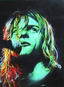 Cobain Framed Prints - Kurdt Kobain Framed Print by Christian Chapman Art