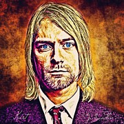 Kurt Cobain Art - Kurt 2 by J S