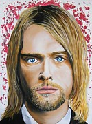Dave Grohl Paintings - Kurt Cobain by Aaron Joseph Gutierrez