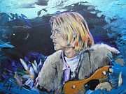 Kurt Cobain Originals - Kurt Cobain - blue by Lucia Hoogervorst