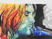 Musician Greeting Cards Paintings - Kurt Cobain by Chrisann Ellis