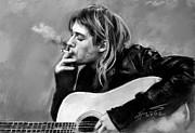 Kurt Cobain Guitar  Print by Viola El