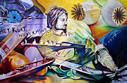 Musicians Painting Originals - Kurt Cobain It aint Medicine Kurt by Joshua Morton
