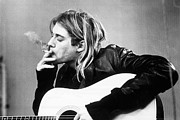 Kurt Cobain Photos - Kurt Cobain Nirvana smoking by David  Jones