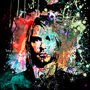 Kurt Cobain Digital Art - Kurt Cobain Portrait by Gary Grayson