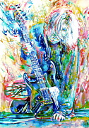 Singer  Paintings - Kurt Cobain Portrait.1 by Fabrizio Cassetta