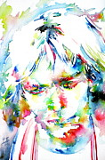 Drawing Painting Originals - Kurt Cobain Portrait.4 by Fabrizio Cassetta